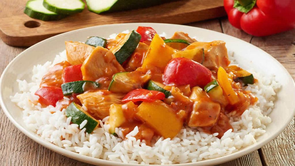 Hähnchen Curry Mit Gemüse